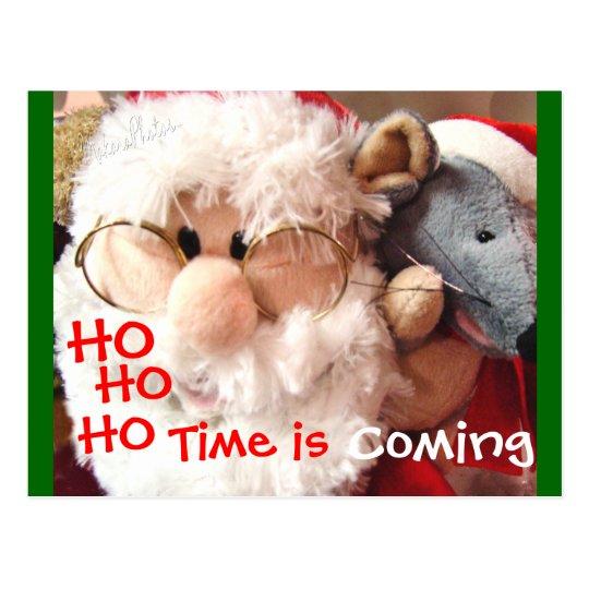 Jolly Ol Santa & Mouse Postcard - customize
