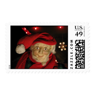 Jolly Old Christmas Elf Postage Stamps