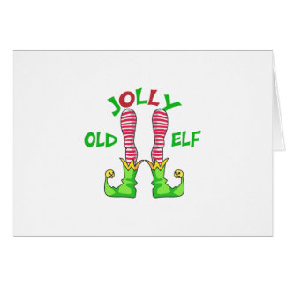 JOLLY OLD ELF GREETING CARD