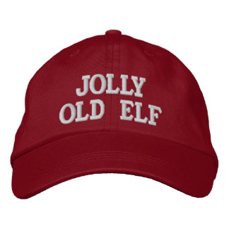 Jolly Old Elf Embroidery Cap Embroidered Hat