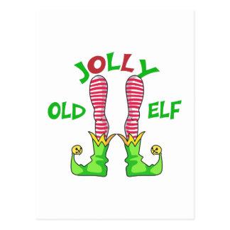 JOLLY OLD ELF POSTCARD
