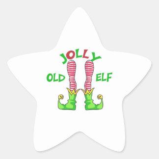 JOLLY OLD ELF STAR STICKER