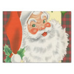 Jolly Old Father Christmas Retro Tissue Paper