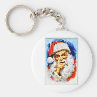 Jolly Old Saint Nick Basic Round Button Keychain