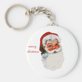 Jolly-old-saint-nick Basic Round Button Keychain