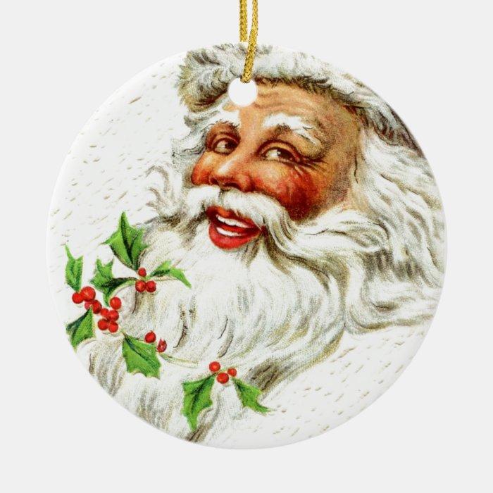 Jolly Old Saint Nick Ceramic Ornament