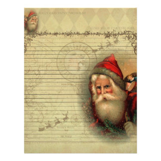 Jolly Old St. Nicholas Letter from Santa Paper