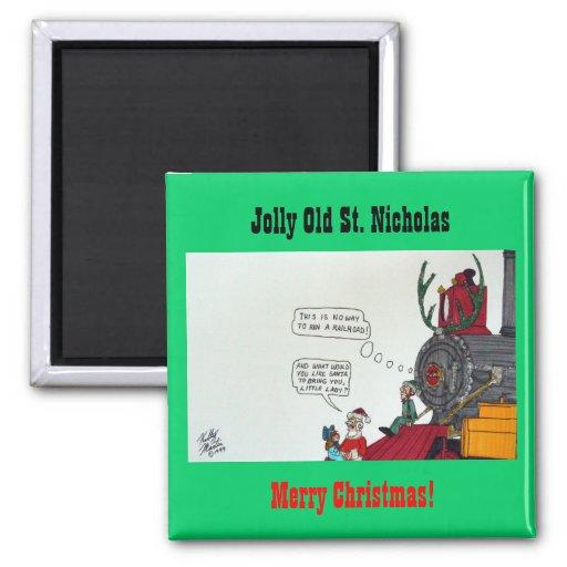 Jolly Old St. Nicholas Refrigerator Magnets