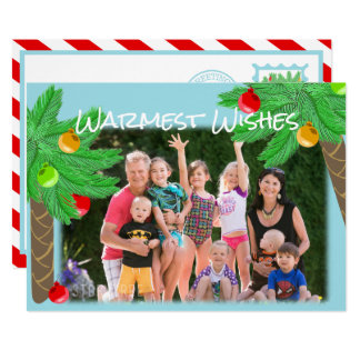 Jolly Palm Trees Tropical Holiday Greeting Card