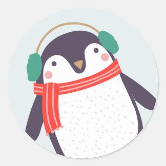 Jolly Penguin Classic Round Sticker