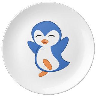 Jolly Penguin Porcelain Plate