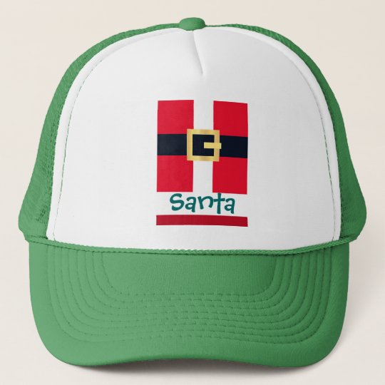 Jolly Red Christmas Santa Designs Trucker Hat