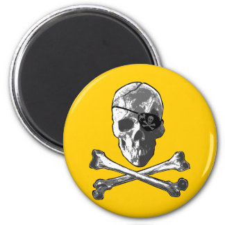 Jolly Roger 2 Inch Round Magnet