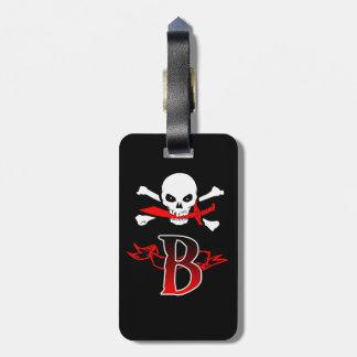 Jolly Roger B Monogram Initial Bag Tag