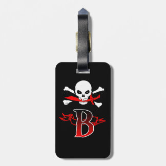Jolly Roger B Monogram Initial Luggage Tags