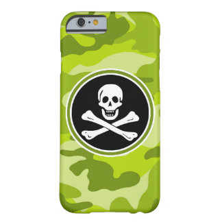Jolly Roger; bright green camo, camouflage Barely There iPhone 6 Case