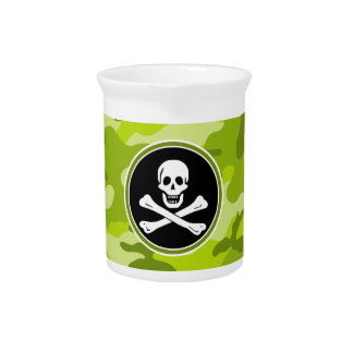Jolly Roger; bright green camo, camouflage Pitchers