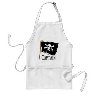 Jolly Roger Captain Adult Apron