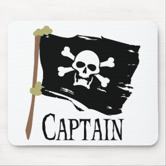 Jolly Roger Captain Mouse Pad