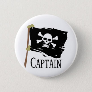 Jolly Roger Captain Pinback Button