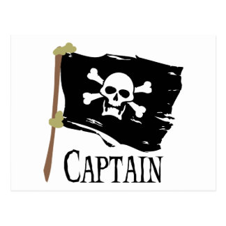 Jolly Roger Captain Postcard