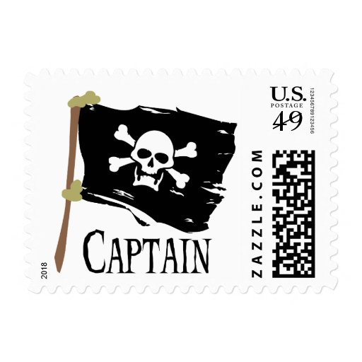 Jolly Roger Captain Stamps