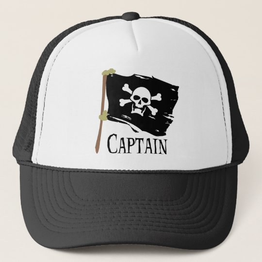 Jolly Roger Captain Trucker Hat