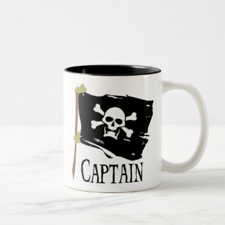 Jolly Roger Captain Two-Tone Coffee Mug
