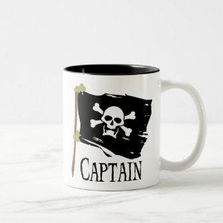 Jolly Roger Captain Two-Tone Coffee Mug