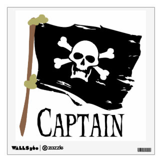 Jolly Roger - Captain Wall Decal