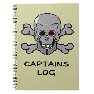 Jolly Roger CAPTAINS LOG Spiral Notebooks