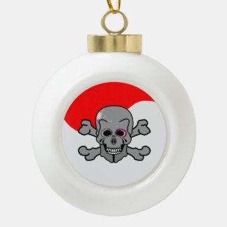 Jolly Roger Ceramic Ball Christmas Ornament
