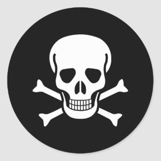 Jolly Roger Classic Round Sticker