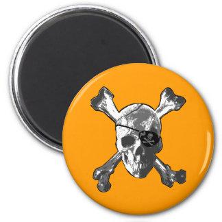 Jolly Roger Crossbones 2 Inch Round Magnet