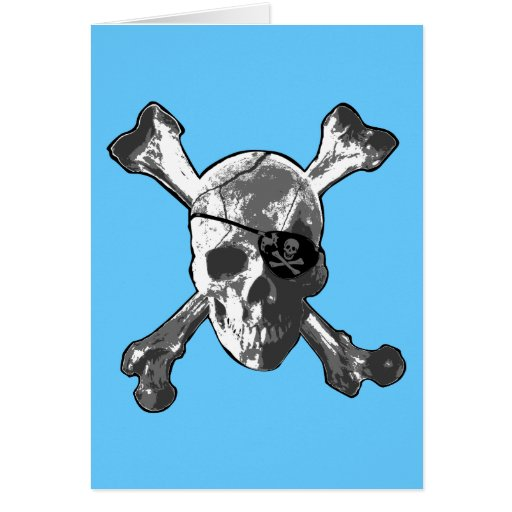 Jolly Roger Crossbones Greeting Card