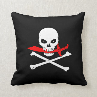 Jolly Roger (Cutlass) Throw Pillow