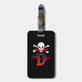 Jolly Roger D Monogram Initial Tags For Luggage
