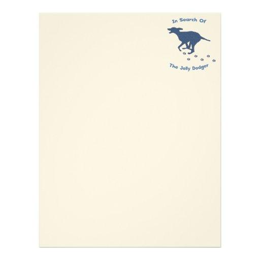 Jolly Roger Dodger Dog Letterhead Template