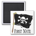 Jolly Roger First Mate 2 Inch Square Magnet