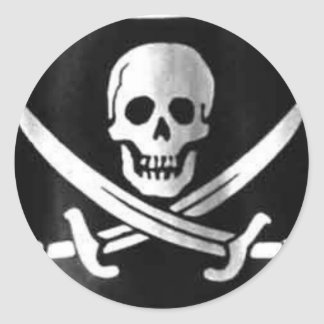 Jolly Roger Flag Classic Round Sticker