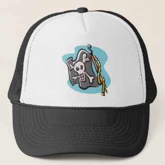 Jolly Roger Flag design Trucker Hat
