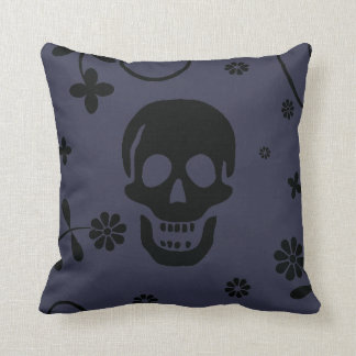 Jolly Roger floral Throw Pillow