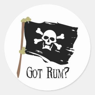 Jolly Roger Got Rum Classic Round Sticker