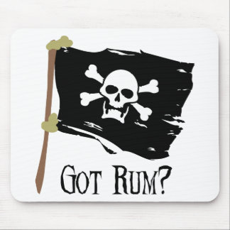 Jolly Roger Got Rum Mouse Pad