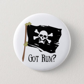 Jolly Roger Got Rum Pinback Button