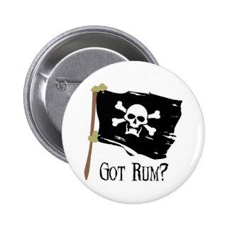 Jolly Roger Got Rum Pinback Button