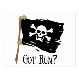 Jolly Roger Got Rum Postcard