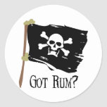 Jolly Roger Got Rum Stickers