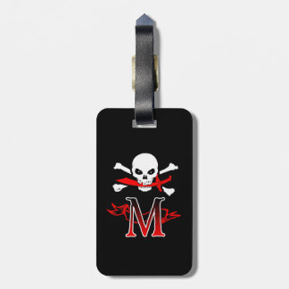 Jolly Roger M Monogram Initial Luggage Tags