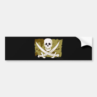 Jolly Roger Map #10 Bumper Sticker